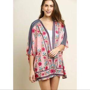 Umgee | Floral Scarf Print Kimono